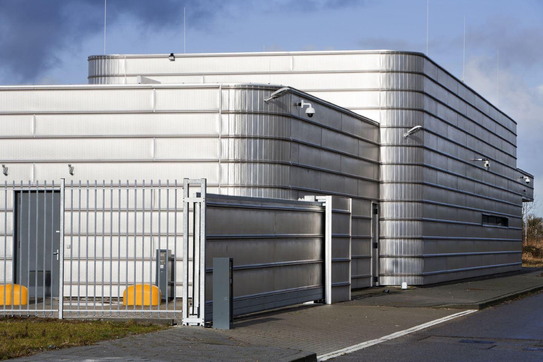 Well secured metal industrial building